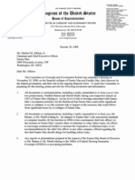 Committee on Oversight and Government Reform's Letter to Fannie Mae