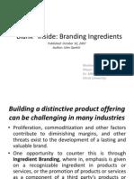 Blank Inside - Branding Ingredient