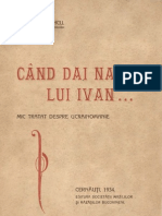 Dragos Vitencu - Cand Dai Nas Lui Ivan, Un Mic Tratat de Ucrainomanie - 1934