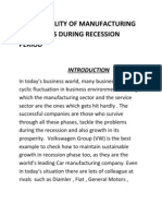 Sustanability of Manufacturing Companies During Recession Period Orignal Version