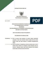 Permentan No. 13 Tahun 2010 - Unofficial English Translation