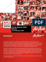 Air Asia Financial Result 2010