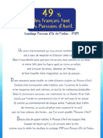 Un Français sur deux fait des poissons d'avril !