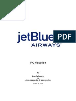 jetblue airways ipo valuation case study solution