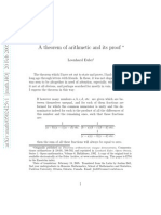A Theorem of Arithmetic and Its Proof Euler