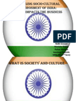 The Changing Socio-cultural Environment in India