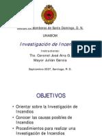 Investigación de Incendios - Bomberos de Santo Domingo