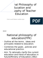 National Philosophy of Education and Fpg