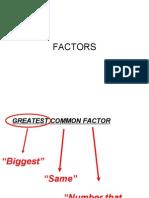 FACTORS (Alternative)