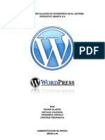 Manual de Wordpress en Ubuntu8.4