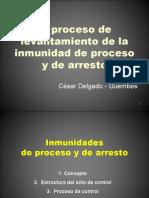 CDG - El proceso de levantamiento de inmunidad parlamentaria