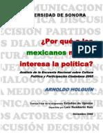Por Qué a Los Mexicanos No Nos Interesa La Política