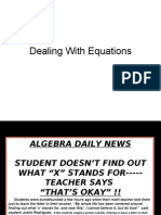 Dealing With Equations & Monomials
