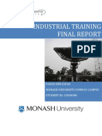 Industrial Training Final Report
