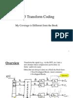 Ch_13_1 Transform Coding - Intro & Bit Allocation Optimization (PPT)