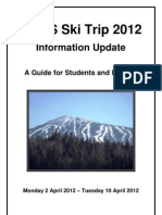Information for Students and Guardians - Ski 2012 - UPDATE - SUGARLOAF MOUNTAIN