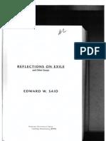 Edward Said Reflections on Exile