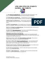 Mathametics related  Websites