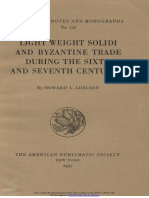 Light weight solidi and Byzantine trade during the sixth and seventh centuries / by Howard L. Adelson