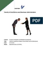 European Integration Essay - Aleksandr Karev