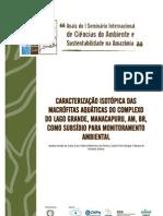CCA - Caracterizaçao Macrofitas