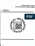 Design Wind Loads for Aluminum Curtain Walls (1975)