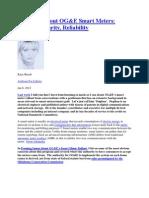 Concerns About OG&E Smart Meters 1 6 2012