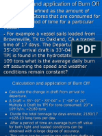Calculation and Application of Burn Off