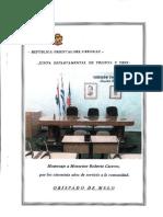 Homenaje a Mons. Cáceres, 20 marzo 2012, Junta Departamental Treinta y Tres