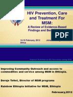 Rainbow Ethiopia PEPFAR MSM Conference Presentation
