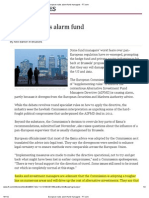 European Rules Alarm Fund Managers - FT