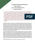 Documento Síntesis - Encuentro Programatico Nacional