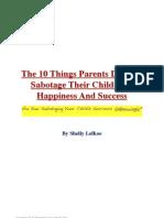 10 Parenting Errors