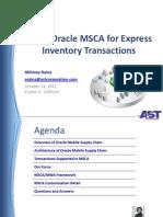 MSCA Architecture Plus Customizations