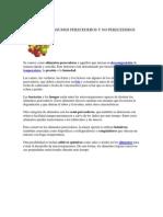 Deficicion de Insumos Perecederos y No Perecederos