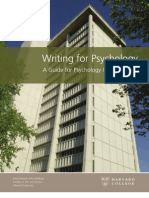 Writing for Psychology Web