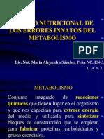 Tratamiento Nutricional en Errores Innatos Del Metabolismo