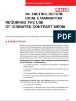 Contrast Media Prescribing Fasting