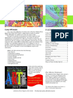 March 2012 Update newsletter for the Alabama River Region Arts Center