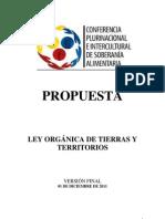 PROPUESTA-FINAL-DE-LEY-DE-TIERRAS-Y-TERRITORIOS-DE-LA-COPISA-01-12-11