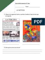 Guía de Reforz. la noticia