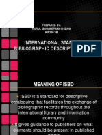 International Standard Bi Bi Lo Graphic Description (Isbd)