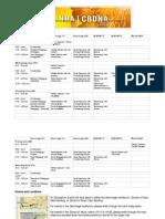 BES Schedule PDF
