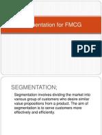 Segmentation for FMCG
