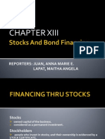 Stocks and Bond Financing