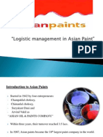 Logistic in Asian Paints
