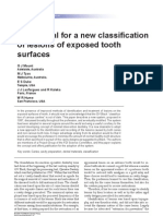 Int Dent J 2006 a Proposal for a New Classification of Lesions of Exposed Tooth Surfaces