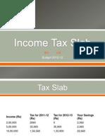Income Tax Slab - UB 12-13