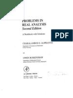 Problems in Real Analysis-Aliprantis