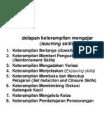 Delapan Keterampilan Mengajar (Teaching Skills)